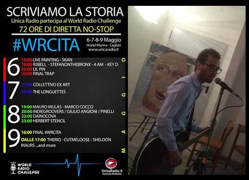 Italia / Unica Radio emitió desde un albergue de Cagliari. Entre las actuaciones, Herbert Stenci