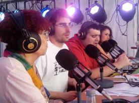 España / La escritora Maruja Torres charla con Carruesco y Brau