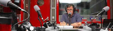 Segurola en los estudios de R. Marca / foto: L. A. Alonso (Marca)